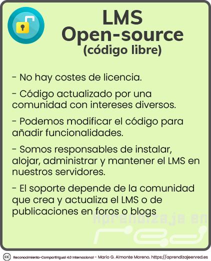 Características de los LMS open source